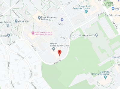 Map of where to find the Speech and Hearing Clinic